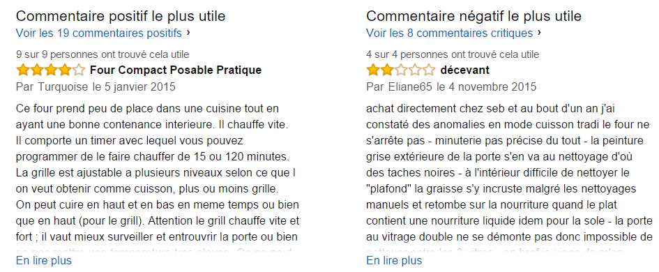 Commentaires clients Seb OF266800
