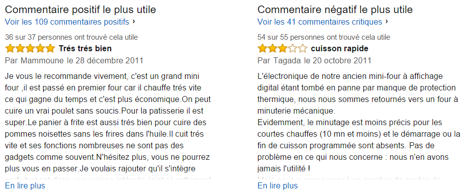 Commentaires clients Seb OF275800